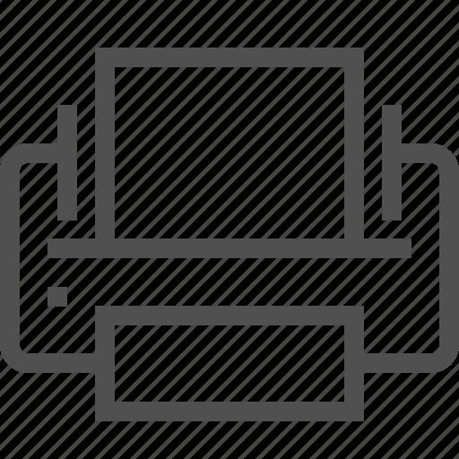 document, equipment, machine, page, print, printer, sheet icon