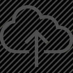 arrow, cloud, network, save, storage, upload, wireless icon
