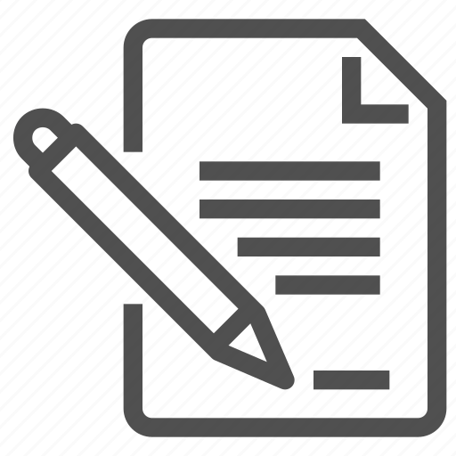 doc, document, paper, pen, scroll, text icon