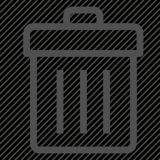 basket, bin, box, cancel, delete, garbage, trash icon