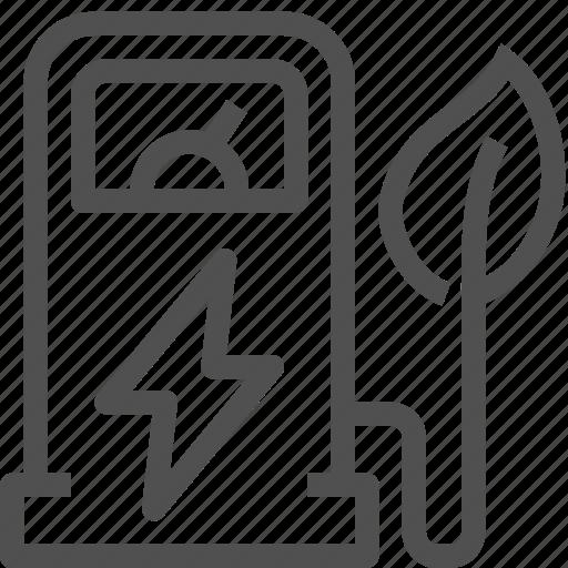 auto, charger, eco, energy, leaf, lightning, station icon