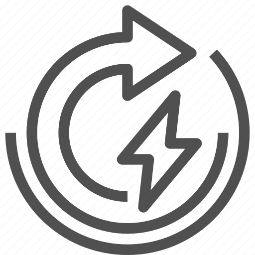 arrow, auto, charger, electricity, energy, lightning, overcharge icon