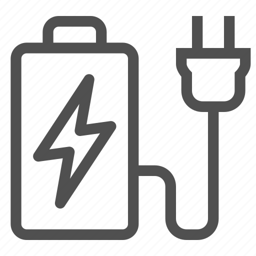 accumulator, auto, battery, charger, electricity, lightning, plug icon