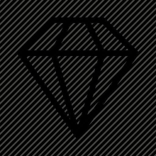 diamond, dimond, jewel, jewelry, ring icon