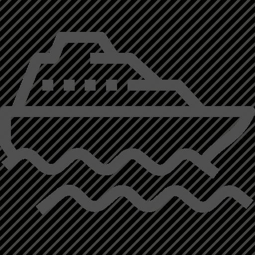 boat, cruise, sea, ship, transport, transportation, travel icon