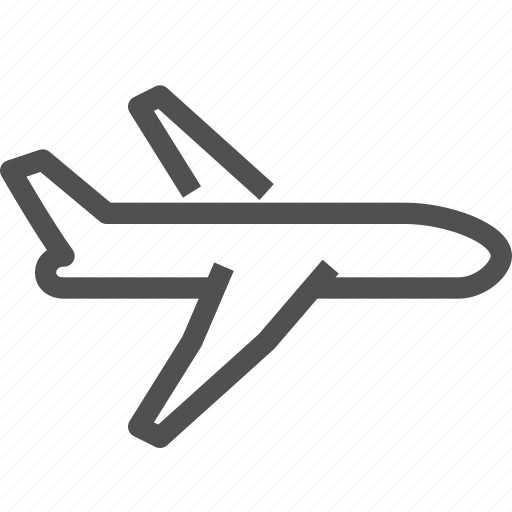 aircraft, airplane, airport, craft, flying, plane, ship icon