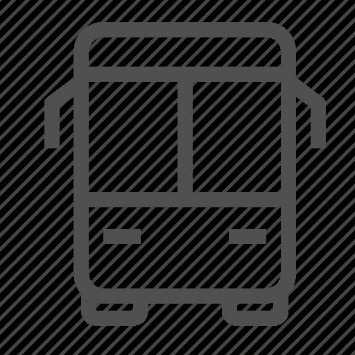 autobus, bus, charabanc, motorbus, public, transport, travel icon