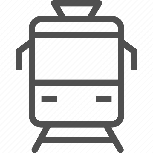 passenger, street, streetcar, tram, transport, trolley, vehicle icon