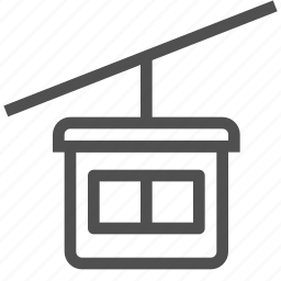 booth, cabin, cable, cableway, funicular, railway, rope icon