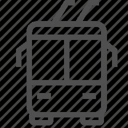 passenger, public, trackless, transport, transportation, trolley, trolleybus icon