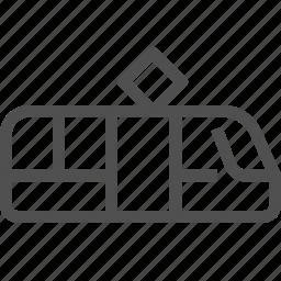 public, streetcar, tram, tramcar, transport, trolley, vehicle icon