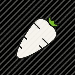food, horseradish, radish, root, vegetables icon