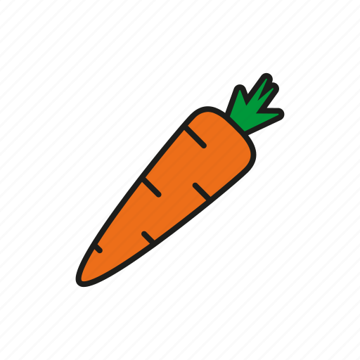 carrot, food, root, vegetables icon