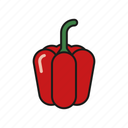 bell pepper, food, pepper, red, vegetables icon