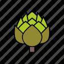 artichoke, flower, food, vegetables icon