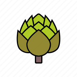artichoke, flower, food, vegetables icon