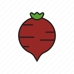 beet, food, root, vegetables icon