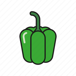 bell pepper, food, green, pepper, vegetables icon