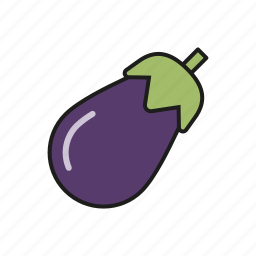 eggplant, food, vegetables icon