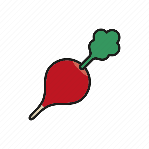food, radish, red, root, vegetables icon