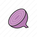 bulb, food, onion, purple, vegetables icon