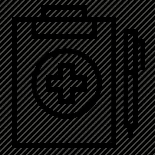 checklist, healthcare, medical, report icon