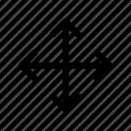 arrow, bigger, expand, move, pan icon