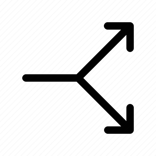 arrow, break, divide, share, split icon