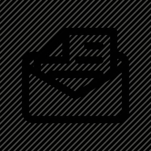 deliver, envelope, letter, mail, open icon