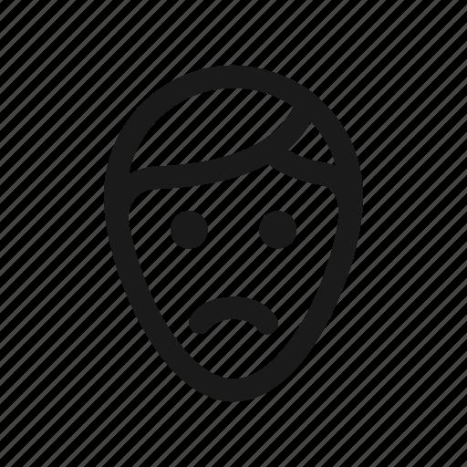expression, face, feel, sad, unhappy icon