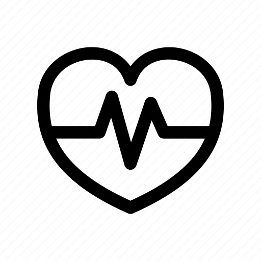 beat, heart, love, rate, signal icon