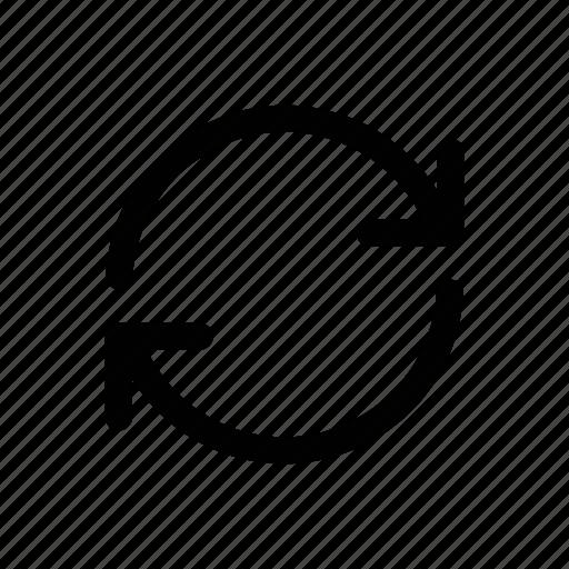 reboot, recheck, refresh, reload, sync icon