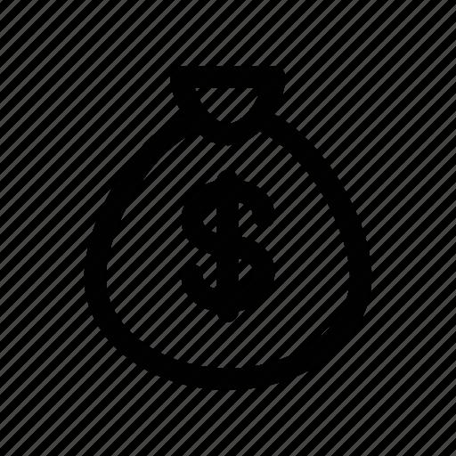 bag, bribe, coin, money, purse icon