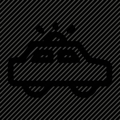 car, patrol, police, siren, transportation icon