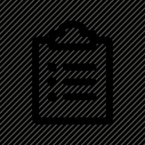board, copy, item, list, price icon