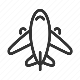airplane, airport, fly, transport, travel, vacation icon
