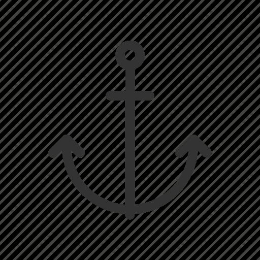 anchor, navigation, ocean, sea, ship icon
