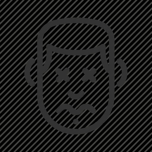 avatar, dead, emotion, face, feeling icon