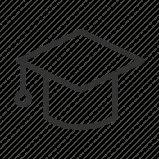 education, graduate, hat, student, university icon