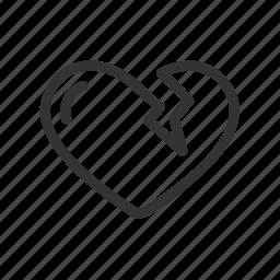 broken heart, feeling, health, heart, love icon