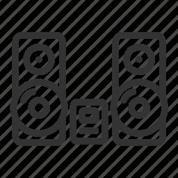 appliances, audio, music, music center, sound icon