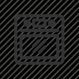 appliances, cook, kitchen, oven icon