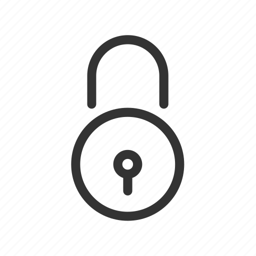 closed, padlock, password, secure, security icon