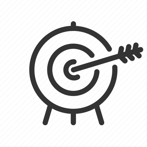 arrow, direction, marketing, navigation, shooting, target icon