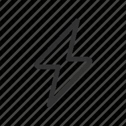 charge, electric, energy, flash, lightning, power, thunderbolt icon