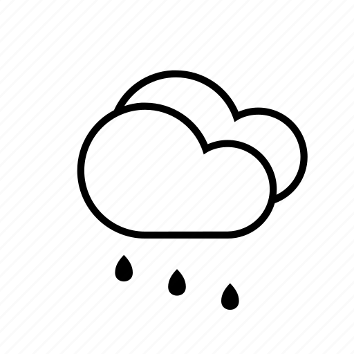 clouds, rain, weather icon
