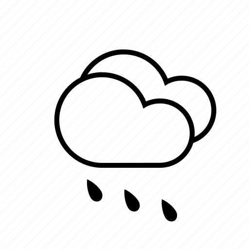 clouds, rain, slanting rain, weather icon