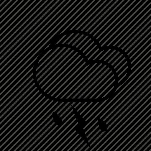 clouds, lightning, rain, slanting rain, storm, weather icon