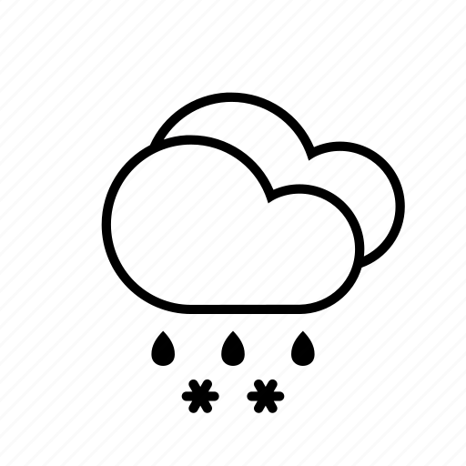 clouds, sleet, weather icon