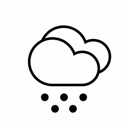 clouds, hail, weather icon